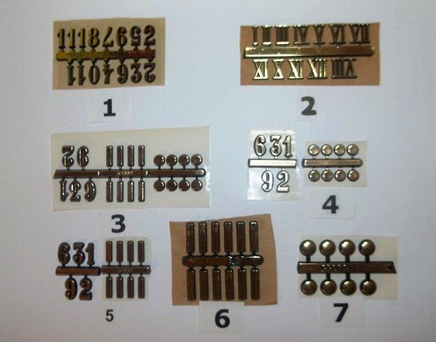 Plastic Clock Markers - Self Adhesive - Gold