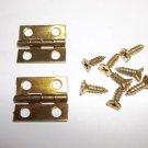 (20) Brass Plated Hinges For Jewelry Boxes/Craft Projects