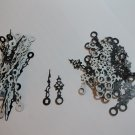 25 Pairs New Serpentine Black/White Clock Hands (No000) For Scrapbooking, Steampunk, Embellishment