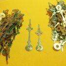 50 Pairs New Brass Maltese Clock Hands (#15) For Scrapbooking, Steampunk, Embellishment