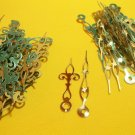 50 Pairs New Brass Serpentine Clock Hands (#40)  For Scrapbooking, Steampunk, Embellishment