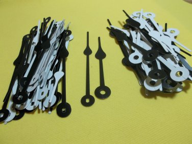 25 Pairs New Black/White Spaded Clock Hands (No26)  For Scrapbooking, Steampunk, Embellishment