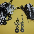 25 Pairs New Serpentine Fancy Black Clock Hands (No6)  For Scrapbooking, Steampunk, Embellishment