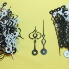 25 Pairs New Serpentine Fancy Black/White Clock Hands (No42))For Scrapbooking, Steampunk, etc