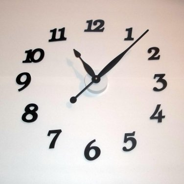 """High Torque Clock Movement (Quite) with 9-5/16"""" Balanced Hands (No5), Wall Mount/Deluxe Hour Markers"""