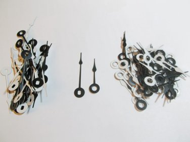 25 Pairs New Black Spaded Clock Hands (No2) For Scrapbooking, Steampunk, Embellishment