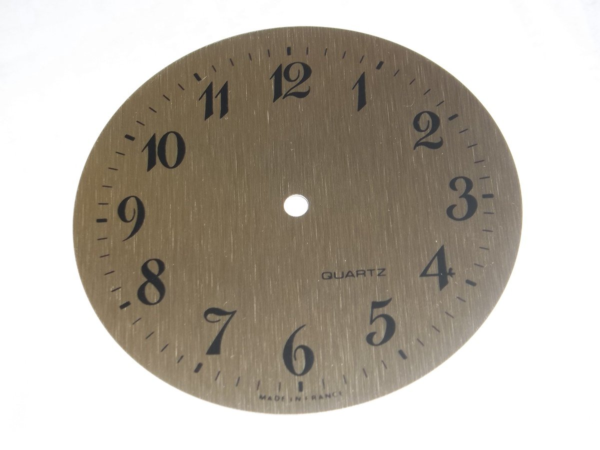 "3-5/8"" Designer Brushed Brass Arabic Clock Dial"