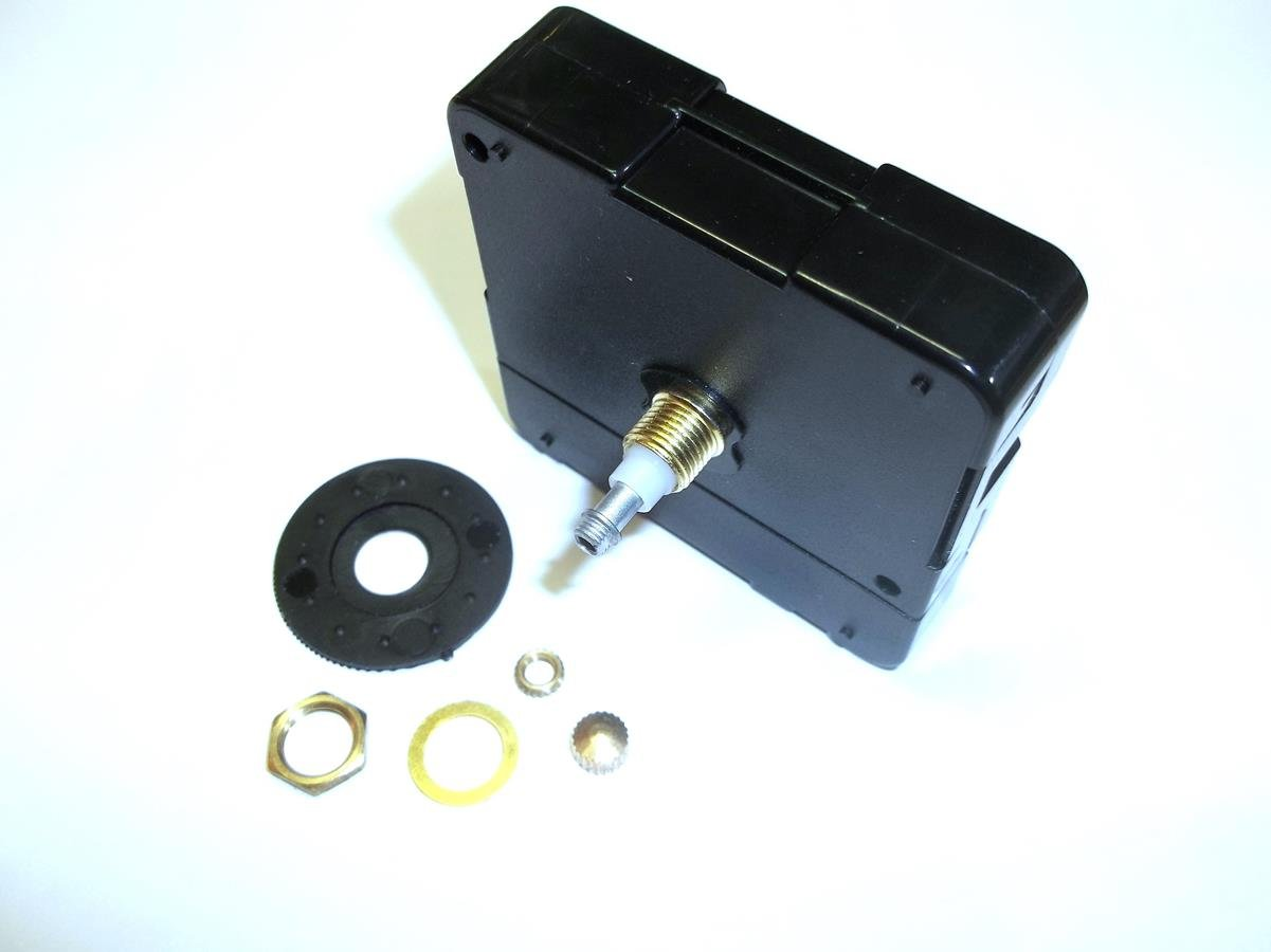 High Torque Clock Movement (Silent Sweep) Extended Shaft, Short Shaft   (For Long Hands