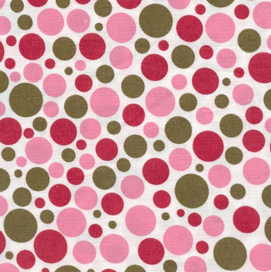 Hootie- Pink and Green Polka Dots
