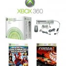 Xbox 360 Premium Console Bundle with 2 Fun Games