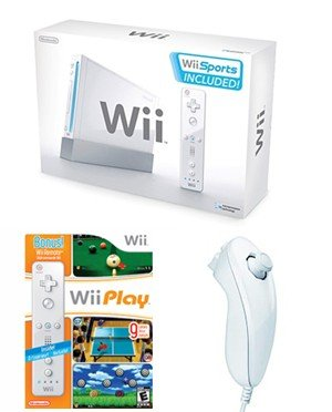 Nintendo Wii 14 Game Bundle - With 14 Great Games and 4 Controllers
