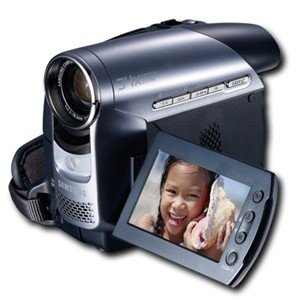 "Samsung MiniDV Silver Camcorder - SCD372/ 2.7"" Wide LCD/ LED Video Light"