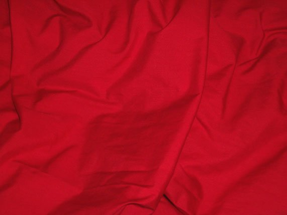 Red Poly Cotton Broadcloth