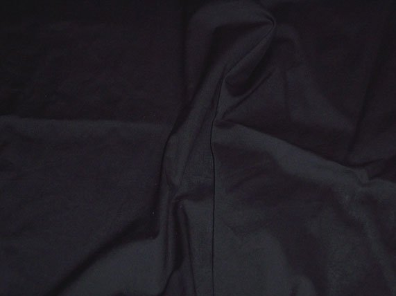 Black Poly Cotton Broadcloth