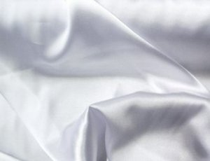 White Silky Soft Charmeuse Satin