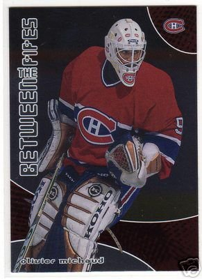 01/02 Between The Pipes NHL Hockey Rookie Goalie Card #85 Olivier Michaud