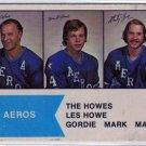 1974/1975 WHA OPC Hockey Card #1 The Howe Family, Gordie Howe!