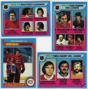 1979/1980 Topps NHL Hockey Card Lot with Ken Dryden, Tony Esposito, Guy Lafleur, NM/MINT, Very Nice!