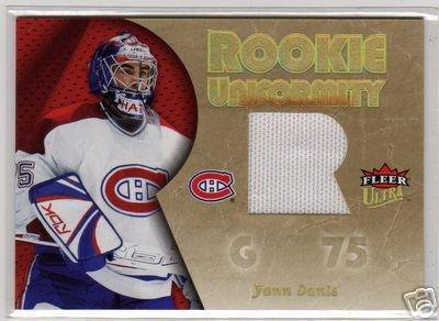2005/2006 Ultra Fleer NHL Rookie Uniformity Goalie Jersey Card #RU-KB, Yann Danis