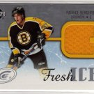 Patrice Bergeron 2005/2006 Upperdeck Deck ICE Fresh Ice NHL Hockey Jersey Card #FI-PB