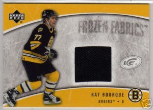 "Ray Bourque - 2005/2006 Upper Deck ""ICE"" Frozen Fabrics Jersey Card #FF-RB"