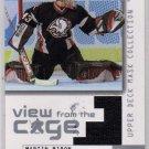 Martin Biron - 2003/2004 UD Mask Collection NHL Hockey Jersey Card #V-BI