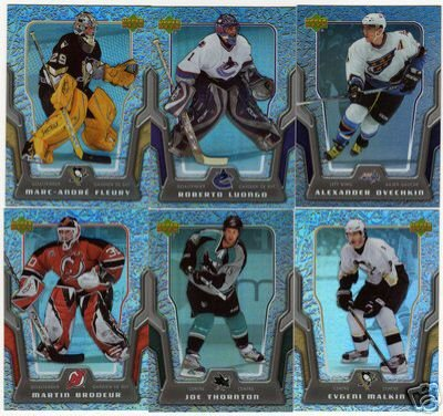 2007/2008 McDonalds NHL Hockey Cards Complete Set of 50 Cards + 6 Card Check List Set