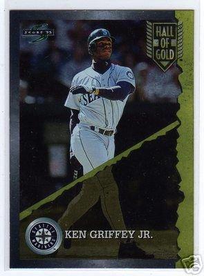 Ken Griffey Jr. 1995 MLB Baseball Score Insert Card - Hall of Gold Card #HG1