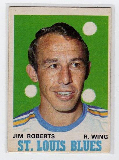1970/1971 OPC NHL Hockey Card #213, Jim Roberts, St Louis Blues Mid Grade OPC Card