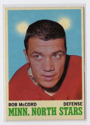 1970/1971 OPC NHL Hockey Card #41 Bob McCord Mid Grade OPC Card