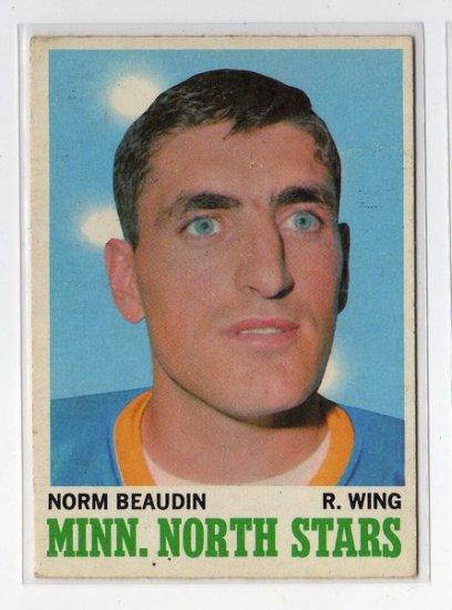 1970/1971 OPC NHL Hockey Card #48 Norm Beaudin Mid Grade OPC Card