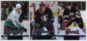 2005/2006 Ultra Fleer NHL Rookie NHL Hockey Card Lot w/ Ryan Getzlaf, Corey Perry & Thomas Vanek