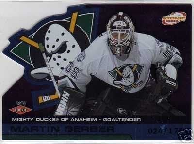 Martin Gerber 2002/2003 Atomic Blue NHL Hockey Rookie Goalie Card #102