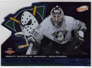 Martin Gerber 2002/2003 Atomic Blue NHL Hockey Rookie Goalie Card #102