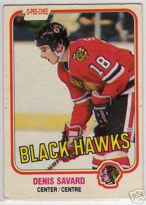 Denis Savard 1981/1982 O-Pee-Chee NHL Hockey OPC Rookie Card #63