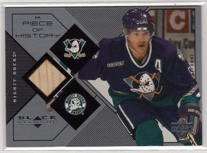 1999/2000 Black Diamond, A Piece of History Insert Stick Card Teemu Selanne #TS RARE