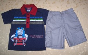 Blue Collared Thomas Set for 2 yrs old (RM50.00)/ (S$25)