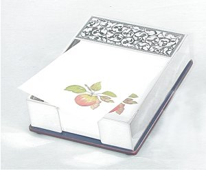 Phone or Desk Message Pad holder. Never forget a message - write it down