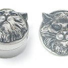 Cat's head Pill Box - ideal for tablets or pills and slips into pockets easily