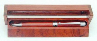 Rosewood Pen Box - ideal desktop accessories for Fountain or Ball Pen