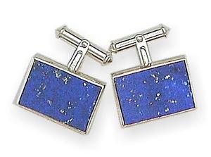 Luxury Lapis-Lazuli Mens Cufflinks with silver backing - stylish and elegant.