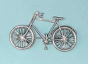 novelty brooch - Bicycle silver plated for a cycle fan
