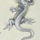Art Nouveau style Silver Plated Lizard Brooch. Elegant and unusual and smart