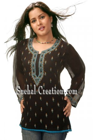 Embroidered Long Tunics
