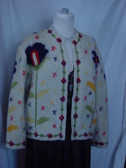 Vintage Italian Sweater Savoia de Italia - Made in Italy - size 14 Decorative  No. 13