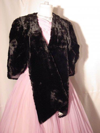 Sheared Beaver Cape Stole Bolero or fur coat Vintage Black  No. 7
