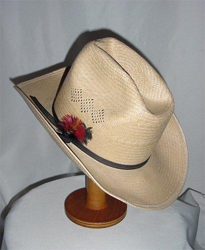 Men's Cowboy hat wide brim straw Made in the U.S.A.  6 3/4 Custom Made mens hat  #9