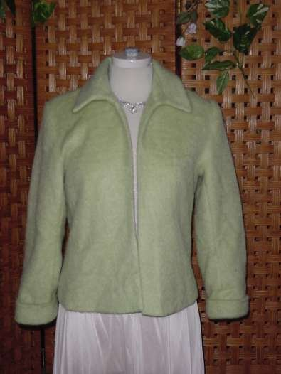Avocado Green Adolfo Suit Jacket Size 6 Jacket mohair  No. 12