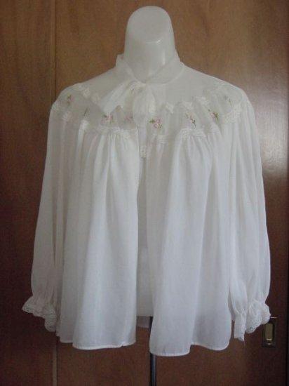 Van Raalte Myth Small Ivory Vintage Bed Jacket pink flowers  No. 8
