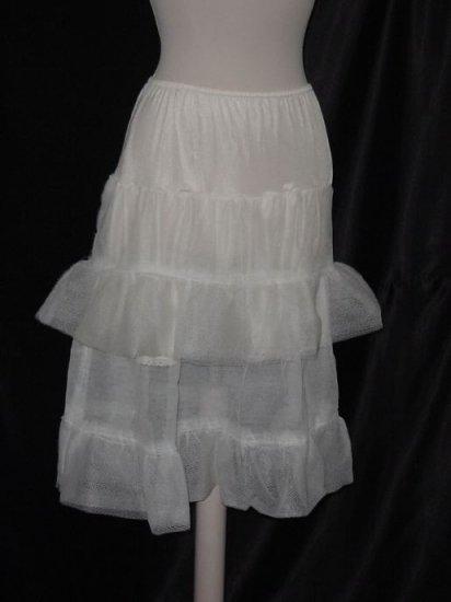 Vintage Can Can, Crinoline, Stiff White Petticoat 1930s 1940s No. 22